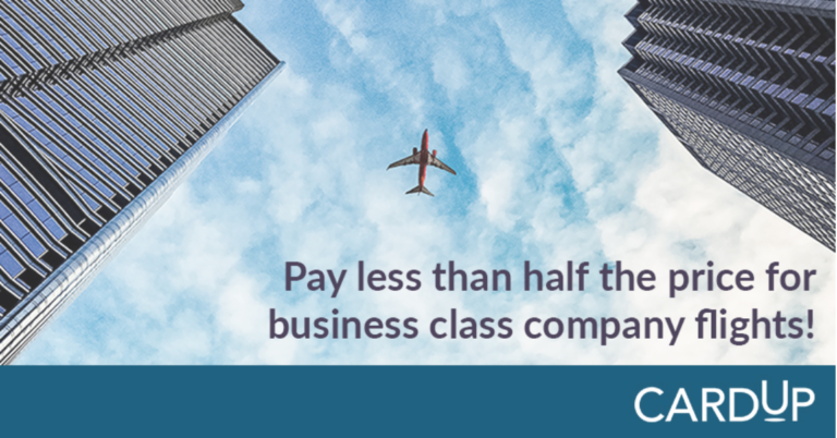 Digitise your business payments and save over 50% on company flights!